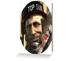 Top sun Greeting Card