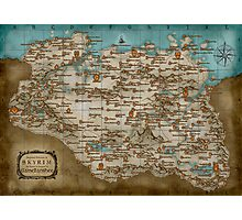 The Elder Scrolls V: Skyrim - Complete Map Photographic Print