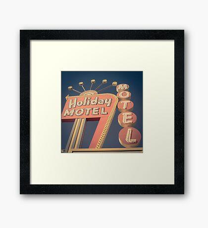 Vintage Motel Sign Square Framed Print