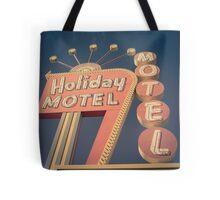 Vintage Motel Sign Square Tote Bag