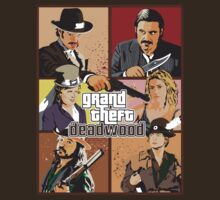 Grand Theft Deadwood | Deadwood + Grand Theft Auto T-Shirt