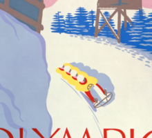 Olympic Bobsled, Lake Placid Sticker
