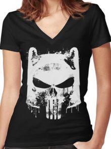 Finn the Punisher Women's Fitted V-Neck T-Shirt