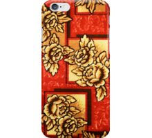 Flowers on Red iPhone Case/Skin