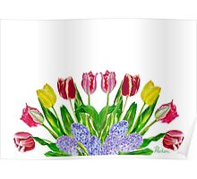 Big Bouquet of Tulips Poster
