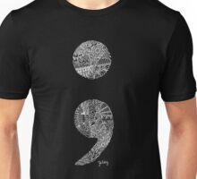 Patterned Semicolon #2 in white Unisex T-Shirt