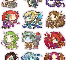 League of Legends Chibi Girl Stickers by lauranonce