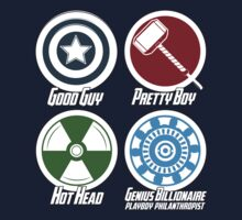 Avenger Personalities - shirt by lavalamp