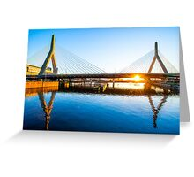 Zakim Bridge, Boston Greeting Card