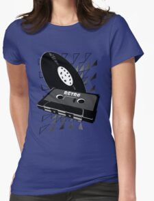 retro old school style Womens Fitted T-Shirt