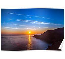Sunset From the Golden Gate Bridge Poster