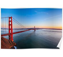 The Golden Gate at Golden Hour Poster