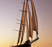 big luxury sailboat by laikaincosmos