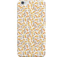 Floral seamless design with seabuckthorn iPhone Case/Skin