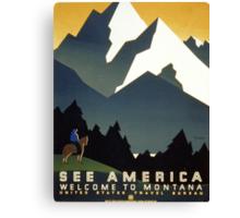 See America, Montana Canvas Print