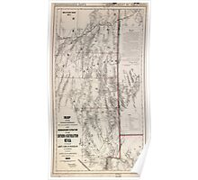 Civil War Maps 1043 Map showing detailed topography of the country traversed by the reconnaissance expedition through southern and southeastern Nevada 02 Poster