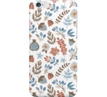 Romantic floral design in vintage colors iPhone Case/Skin