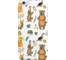 Cute smiling forest animals iPhone Case/Skin