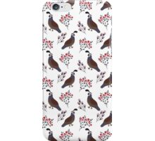 Smiling birds in the garden iPhone Case/Skin