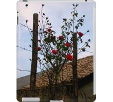 Barbe Wire Roses iPad Case/Skin