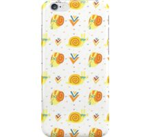 Funny snails in the glasses iPhone Case/Skin