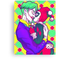 Joker & HarleyQuinn - Retro Canvas Print