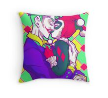 Joker & HarleyQuinn - Retro Throw Pillow