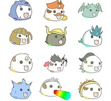 League of Legends Poro Stickers by lauranonce