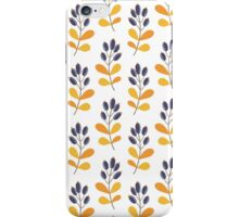 Floral design with berries iPhone Case/Skin