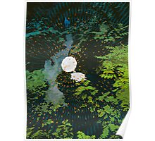 Waterfall and Gramophone Poster