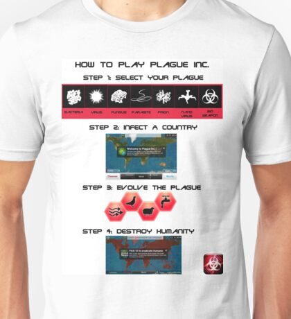 How to play Plague Inc.  Unisex T-Shirt