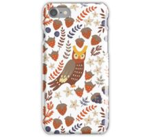 Cute owls and floral elements iPhone Case/Skin