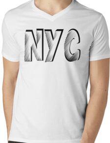 NYC Mens V-Neck T-Shirt