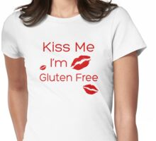 Kiss Me, I'm Gluten Free Womens Fitted T-Shirt