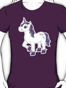 Cute Purple and White Unicorn T-Shirt