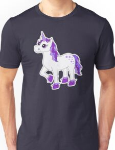 Cute Purple and White Unicorn Unisex T-Shirt