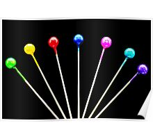 Colorful Pins Poster