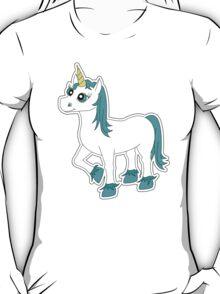 Cute Blue and White Unicorn T-Shirt