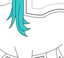 Cute Blue and White Unicorn Sticker