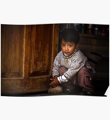 Peruvian Child Poster