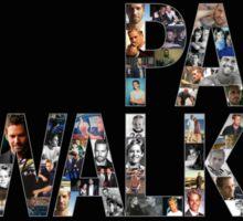 Paul Walker 2 Sticker