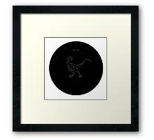 Clever Girl - Sky Raptor Framed Print
