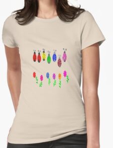 Lovely Ladybugs Womens Fitted T-Shirt