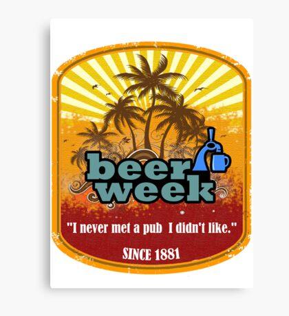 Beer Week Beer Time Canvas Print