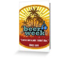 Beer Week Beer Time Greeting Card