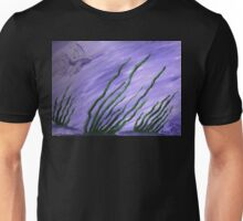 fish in purple and lavendar water with seagrass Unisex T-Shirt