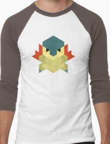 Cyndaquil Men's Baseball ¾ T-Shirt