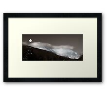 Winter Clouds Over Cannon Framed Print