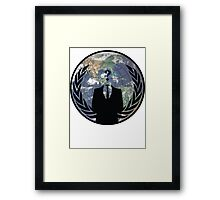 World Wide Anonymous Framed Print