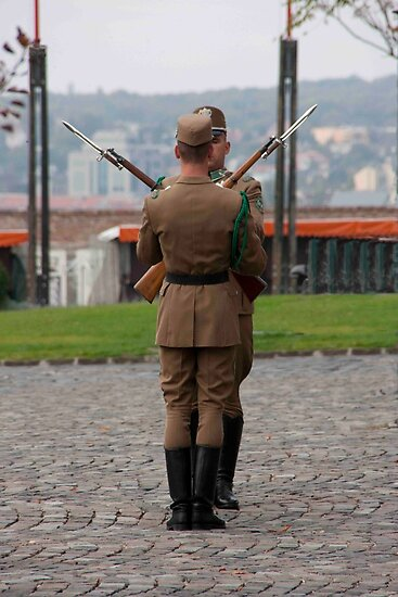 Buda Castle Guards by phil decocco